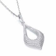 "J-Jaz Micro Pave' Fancy Pendant with 18"" Chain"